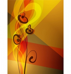 Floral background vector image vector image