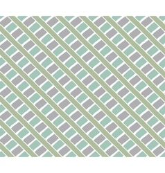 Lines vintage pattern green vector