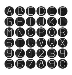 Simple monochrome font Complete abc alphabet set vector image vector image