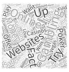 The Facts about Online Gambling and Why You Should vector image vector image
