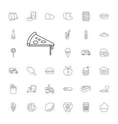 33 food icons vector