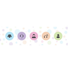 5 agent icons vector
