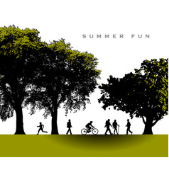 A delightful summer time park scene vector