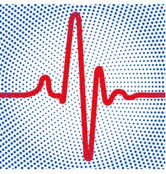 Abstract cardiogram icon vector