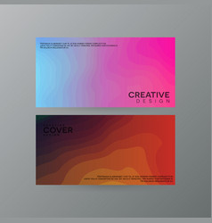 abstract creative cover concepts collection vector image