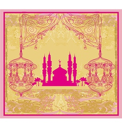 abstract religious background - Ramadan Kareem vector image
