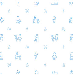 Adult icons pattern seamless white background vector