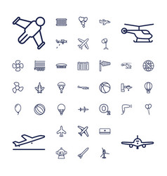Air icons vector