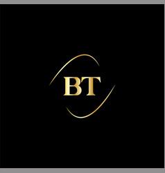 B t letter logo creative design on black color vector