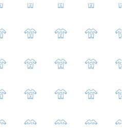 Baby onesie icon pattern seamless white background vector