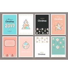 Banner Christmas cards vector image