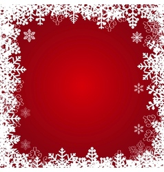 Beautiful snowflakes frame festive background vector image