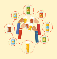 beer festival colorful poster vector image