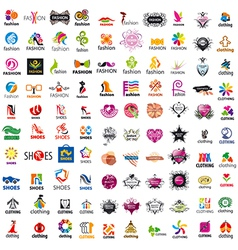 Biggest collection logo design and fashion vector