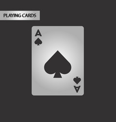 Black and white style playing card vector