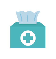 Box antibacterial wipes icon flat style vector
