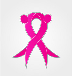 breast cancer awareness pink ribbon abstract icon vector image