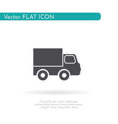 car icon for web business finance and vector image
