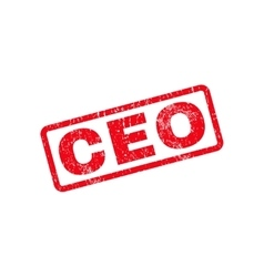 Ceo Text Rubber Stamp vector