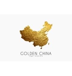 China map golden logo creative logo vector