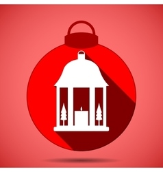 Christmas icon with the silhouette of a lantern vector