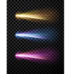 Comet set background vector image