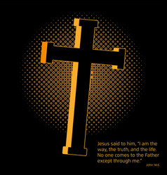Crucifix and gospel vector