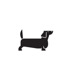 dachshund black concept icon dachshund vector image