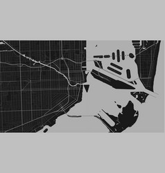 Dark grey and black miami city area background vector