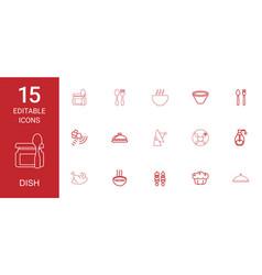 dish icons vector image