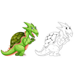 Drafting animal for dragon with shell vector
