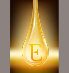 Drop oil vitamin e isolated vector