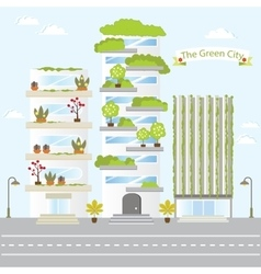 Eco Green City Future Building Design Life Nature vector