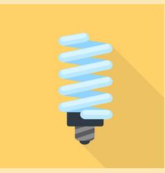 energy saving bulb icon flat style vector image