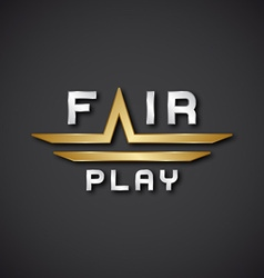 EPS10 fair play text icon vector