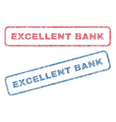 Excellent bank textile stamps vector