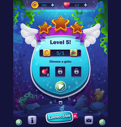 fish world level screen vector image