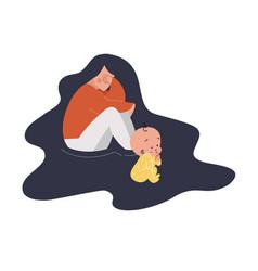 flat style modern postpartum vector image