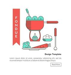 Fondue vegetable vector image