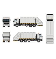 Garbage truck mockup vector