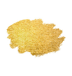 gold paint smear stroke stain abstract vector image