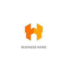 h initial business logo vector image