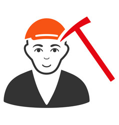 Hammer victim icon vector