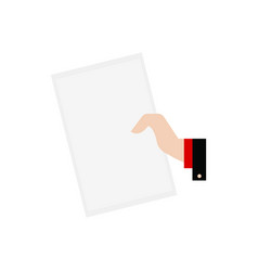 Hand with paper vector