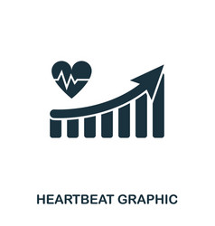 heartbeat increase graphic icon mobile apps vector image