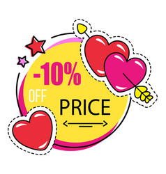 Holiday sale shopping discount for valentines day vector