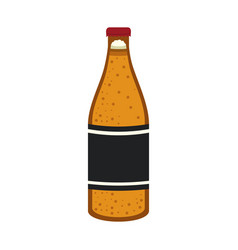 isolated beer bottle design vector image
