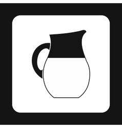 Jug of milk icon simple style vector image