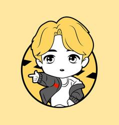 Kpop boy 13 vector