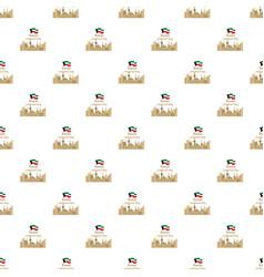 kuwait national day background flat style vector image